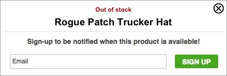Форма подписки Rogue Patch Trucker Hat