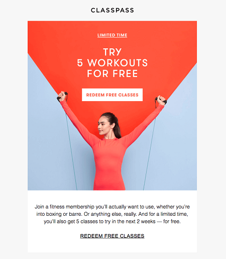 email_marketing_classpass_free
